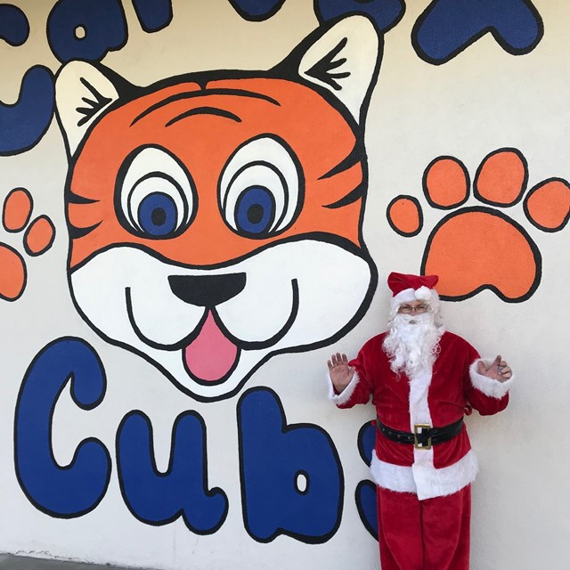 Santa visiting Carver on Friday, December 20th.