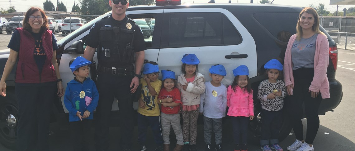 To promote our community helpers unit, we had visits from the Police Department, Fire Department, and a Trucking company.